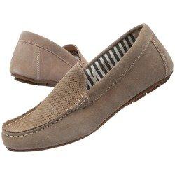Buty Mokasyny Męskie Livergy Leather Loafers Beige [MOCCASSINS]