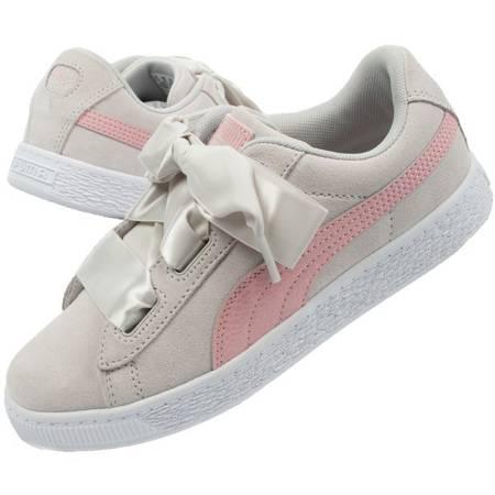 Buty Dziecięce Sportowe Puma Suede Heart Circles [370569 01]