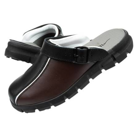 Klapki chodaki buty medyczne Abeba skóra [57315]